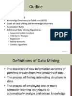 Datawarehousing and Mining
