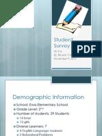 Student Writing Survey