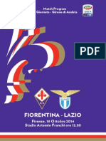 Match Program Fiorentina Lazio