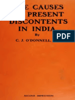 Causes of Present Discontent in India 1908