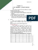 Analisa Regresi Linear Ganda