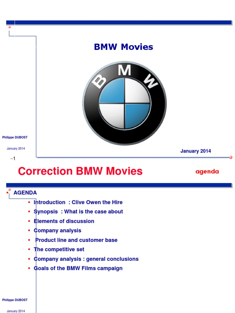 bmw case analysis