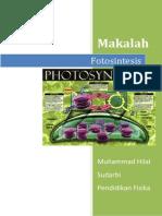 Laporan Praktikum Fotosintesis