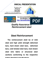 Quality Assurance in ReinforcementSteel