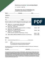 Anmeldeformular IQfSV Familienrecht 2015