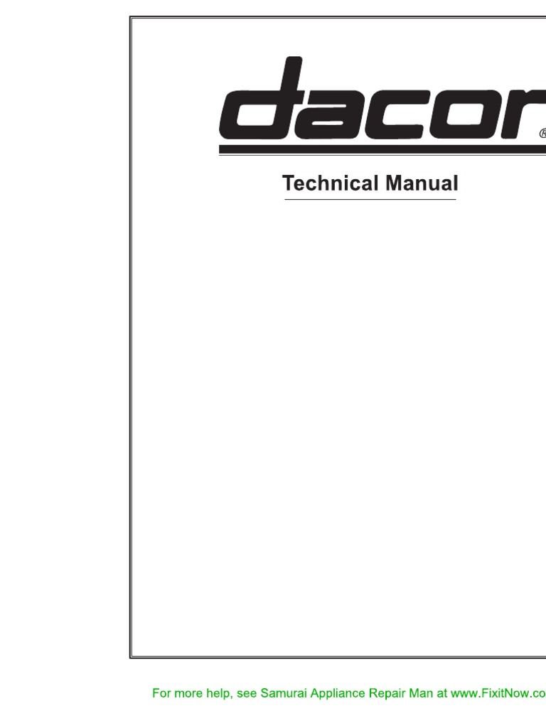 dacor technical manual rh scribd com Dacor Wall Oven dacor oven troubleshooting manuals