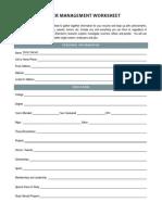 Career Management Worksheet  4455