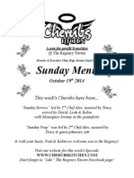 Sunday Lunch Menu 19102014