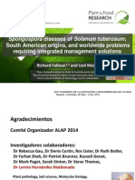 Spongospora diseases of Solanum tuberosum ; South American origins and worldwide problems, requiring integrated management solutions