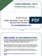 Naac 2012 Dr Kurup