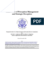 China's Use of Perception Management and Strategic Deception November 2009