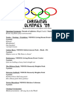 Olympic Schedule 09