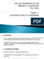 Topic 1- Introduction of Grammar