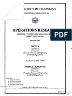 Operations Research NOTES by Divya - RNSIT (Www.vtuplanet.com)