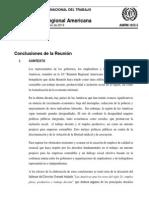 Conclusiones Finales #18RRA OIT Lima - Perú