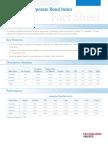 Dow Jones Corporate Bond Index Fact Sheet