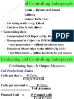 Evaluation criteria of Sales Force