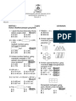 Akhir Tahun Matematik Kertas 1 Tahun 3