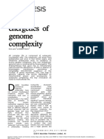 The Energetics of Genome Complexity2