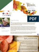 Recherché 2014 Fall Brochure