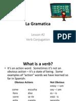 grammar lesson 2 verbs
