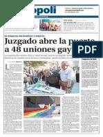Juzgado abre la puerta a 48 uniones gay en NL