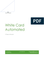 white card automated business plan