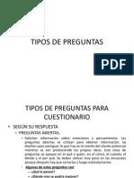 Mercadotecnia 3. Estructura de Preguntas en Investigación.