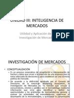 Mercadotecnia 2.3.1. Utilidad y Aplicación de La Investigación de Mercados