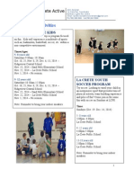 La Crete Youth Programs Oct - Dec. 2014