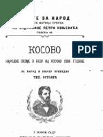 Косово ; Народне Песме  о Боју на Косову 1389. (1901.Год.) - Тихомир Остојић