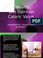 Obesity BMI Nutrition Caloric Value