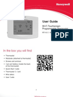 Honeywell RTH8500 Wifi Thermostat Users Guide