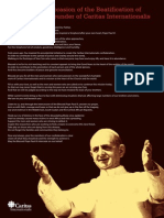 Prayer by Caritas Internationalis on the occasion of the beatification of Pope Paul VI