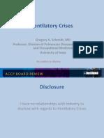 Ventilatory crisis/CCM board review