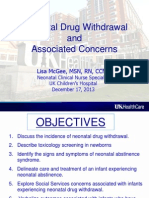 Neonatal Drug Withdrawal and Concerns
