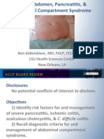 Acute Abdomen/Pancreatitis/Abdominal compartment Syndrome/CCM Board review