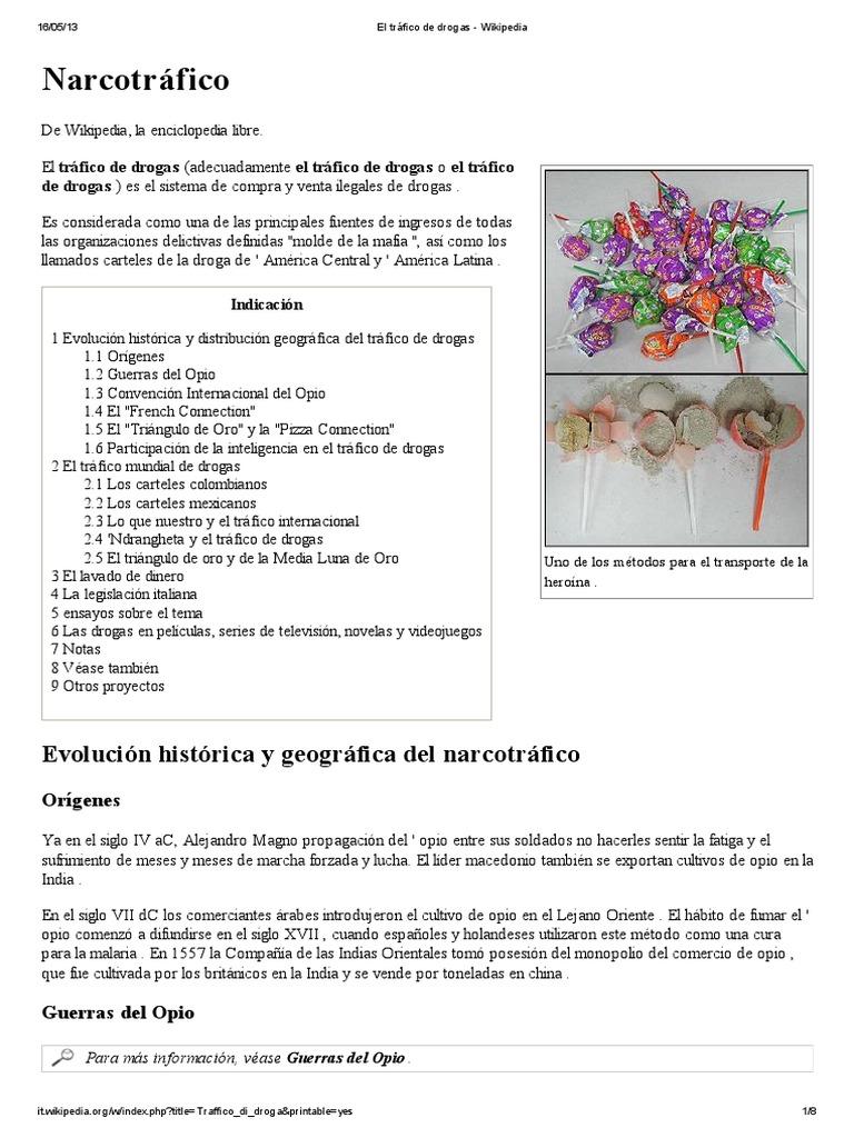 El tráfico de drogas - Wikipedia.pdf