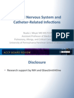 Nervous System and catheter Infection