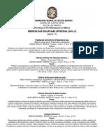 PPGM-UFRJ - EMENTAS Disciplinas optativas 2014-2.pdf