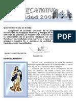 HOJA INFORMATIVA HERMANDAD DE VALDEDIÓS NAVIDAD 2009