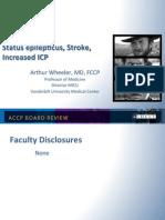 Status Epilepticus/Strock in ICU/CCM Board review
