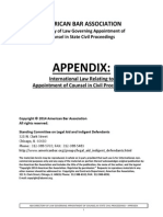 ABA-APPENDIX- International Law, Appoint of Counsel in State Civil Proceedings