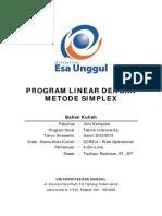 4 Program Linear Dengan Metode Simplex