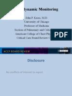 Hemodynamic Monitoring/CCM Board review