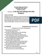 readings 10-19-14