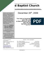Sunday, December 20th Bulletin in Word