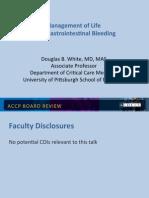 GI Bleeding in ICU/CCM Board review