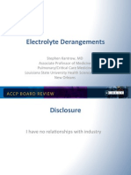 Electrolyte Disorder in ICU/CCM Board review