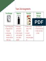 team job assignments